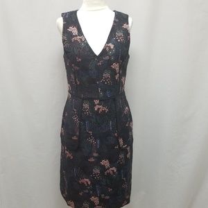 Ann Taylor Modern Night Garden Floral Pocket Dress